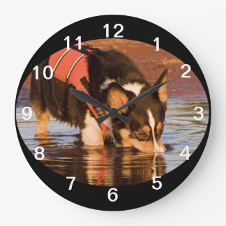 Snack Rescue Large Clock
