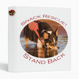 Snack Rescue Stand Back 3 Ring Binder
