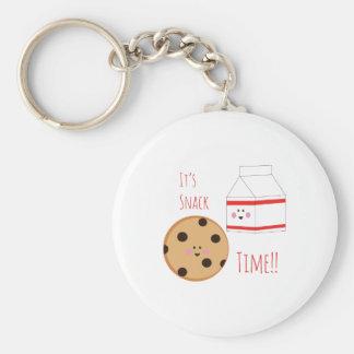 Snack Time Basic Round Button Keychain