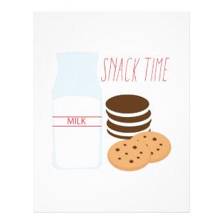 Snack Time Letterhead Template