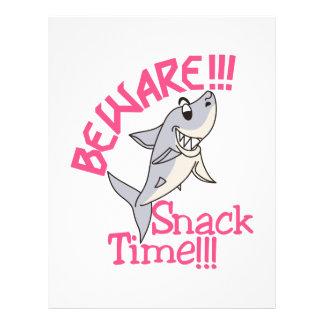 Snack Time! Letterhead