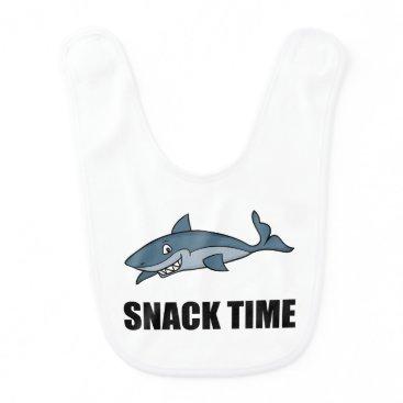 Beach Themed Snack Time Shark Baby Bib