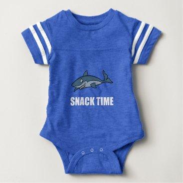 Beach Themed Snack Time Shark Baby Bodysuit
