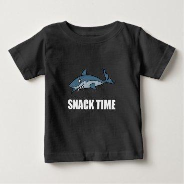 Beach Themed Snack Time Shark Baby T-Shirt