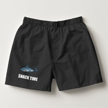 Beach Themed Snack Time Shark Boxers