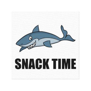 Beach Themed Snack Time Shark Canvas Print