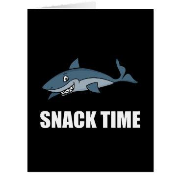 Beach Themed Snack Time Shark Card