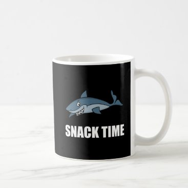 Beach Themed Snack Time Shark Coffee Mug