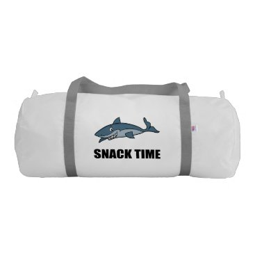 Beach Themed Snack Time Shark Gym Bag