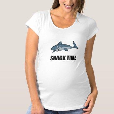 Beach Themed Snack Time Shark Maternity T-Shirt