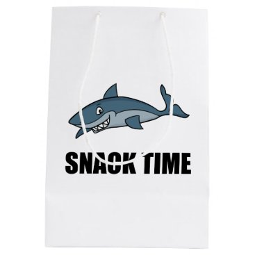 Beach Themed Snack Time Shark Medium Gift Bag