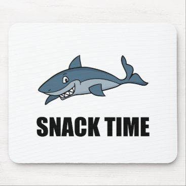 Beach Themed Snack Time Shark Mouse Pad