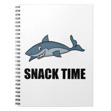 Beach Themed Snack Time Shark Notebook