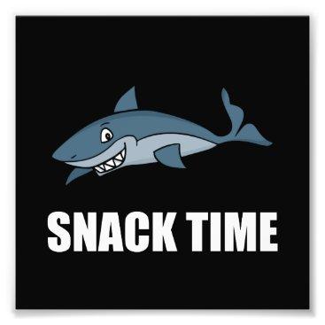 Beach Themed Snack Time Shark Photo Print