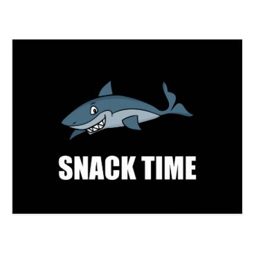 Beach Themed Snack Time Shark Postcard