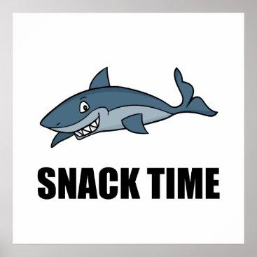 Beach Themed Snack Time Shark Poster
