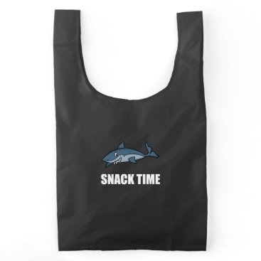 Beach Themed Snack Time Shark Reusable Bag