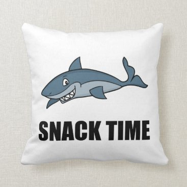 Beach Themed Snack Time Shark Throw Pillow