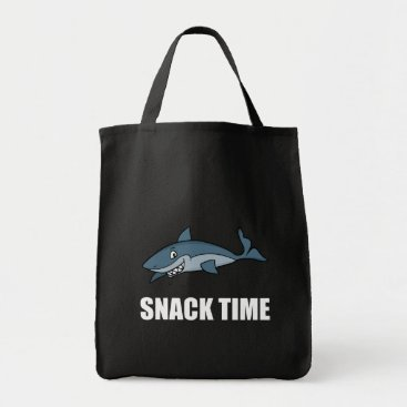 Beach Themed Snack Time Shark Tote Bag