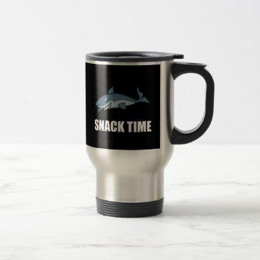 Beach Themed Snack Time Shark Travel Mug