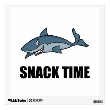 Beach Themed Snack Time Shark Wall Decal
