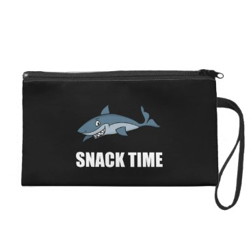 Beach Themed Snack Time Shark Wristlet Purse