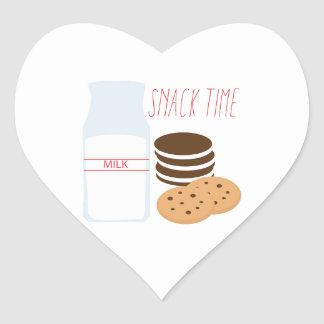 Snack Time Heart Stickers