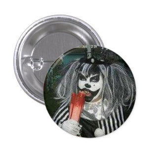 Snack time with Taffy the Klown 1 Inch Round Button