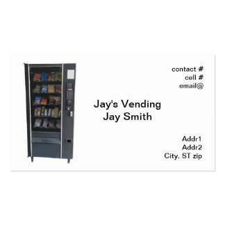 snack vending machine business card