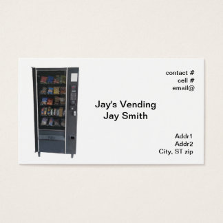 snack vending machine business card