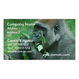 Snacking Gorilla Business Card Template