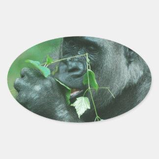 Snacking Gorilla Sticker