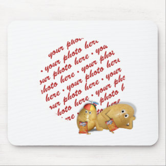 Snacking Potatoes - Father & Son Photo Frame Mouse Pad