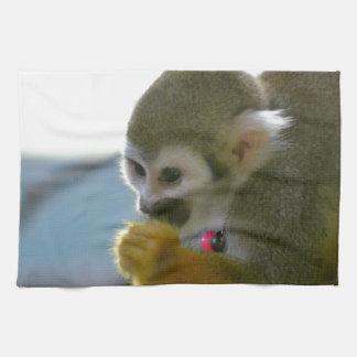 Snacking Squirrel Monkey Towel