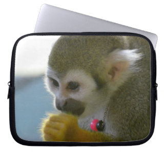 Snacking Squirrel Monkey Laptop Computer Sleeves