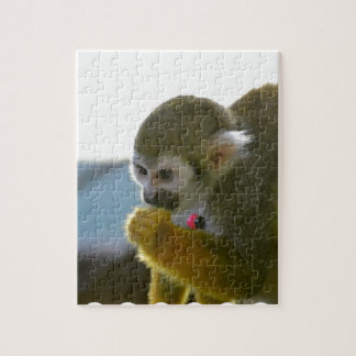 Snacking Squirrel Monkey Jigsaw Puzzles