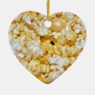 Snacks Food Kitchen Popcorn Crunchy Salty Party Ceramic Ornament