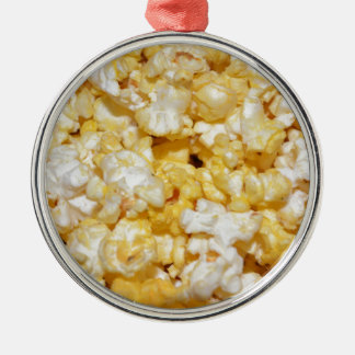 Snacks Food Kitchen Popcorn Crunchy Salty Party Metal Ornament