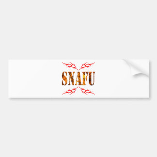 SNAFU BUMPER STICKER