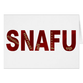 SNAFU CARD