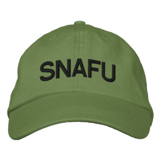 SNAFU EMBROIDERED BASEBALL CAP