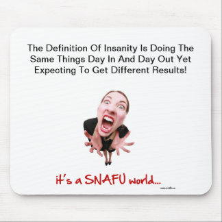 Snafu mouse mat mouse pad