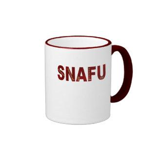 SNAFU RINGER COFFEE MUG
