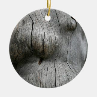 Snag wood texture background christmas ornament