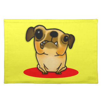 Snaggle Tooth Pug Cloth Placemat