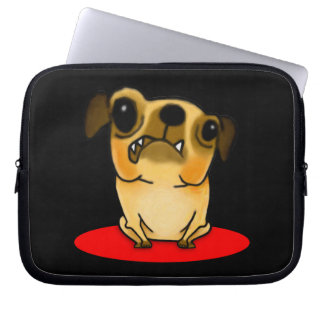 Snaggle Tooth Pug Computer Sleeve