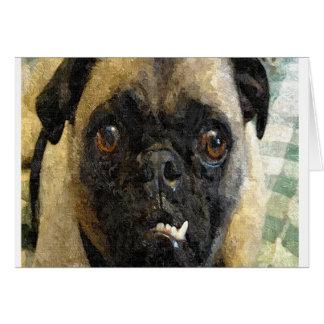 Snaggle Tooth Pug Face Card