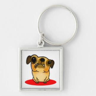 Snaggle Tooth Pug Keychains
