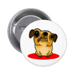 Snaggle Tooth Pug Pinback Buttons