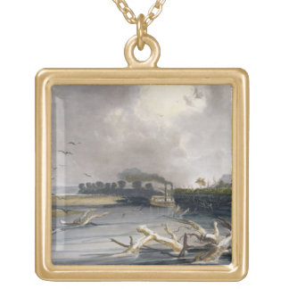 Snags (sunken trees) on the Missouri, plate 6 from Square Pendant Necklace
